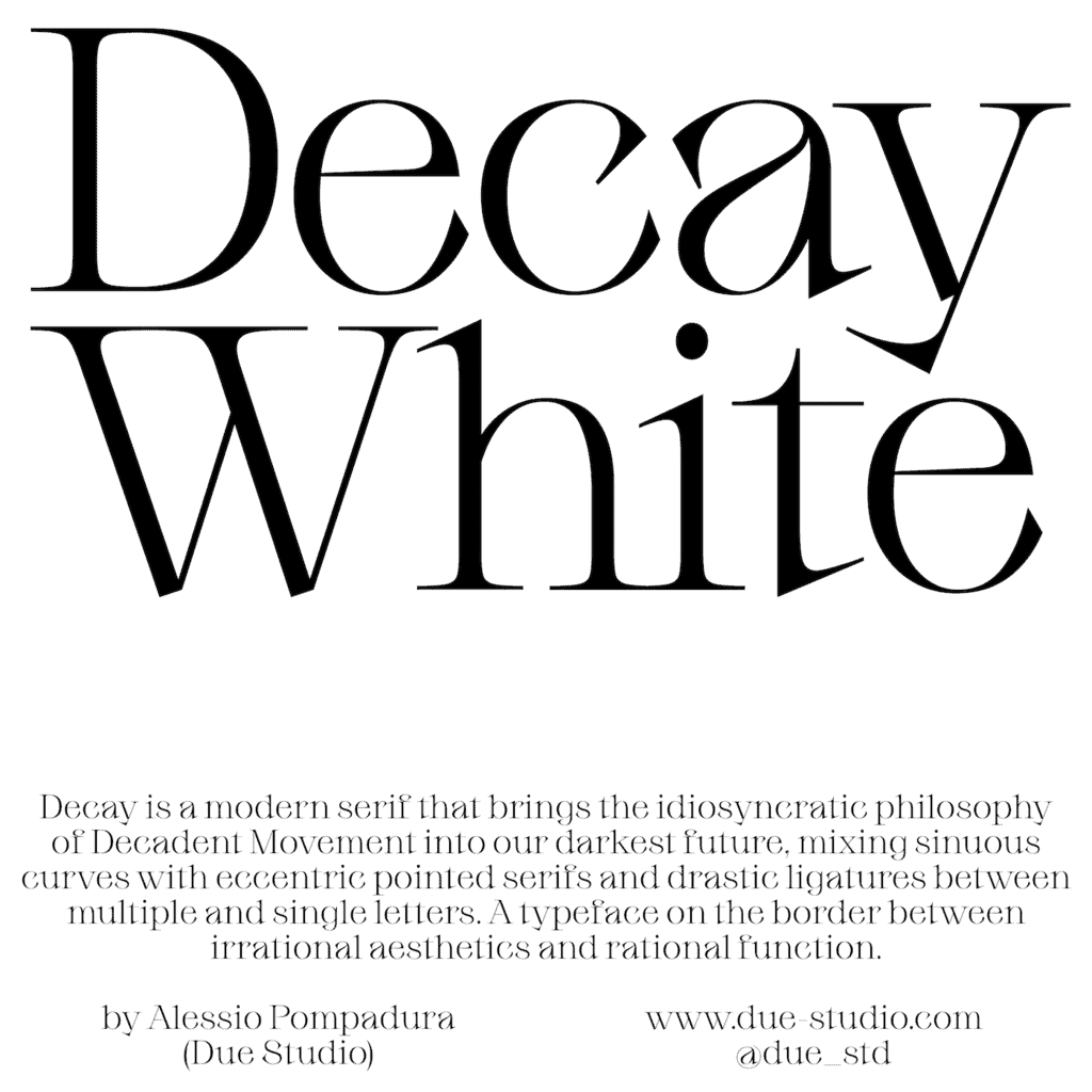 Decay White_Type Department