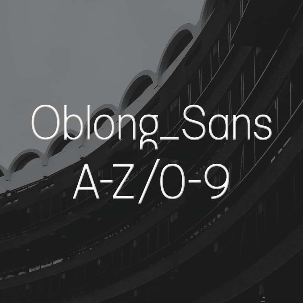 Oblong Sans_Johanne Lian Olsen