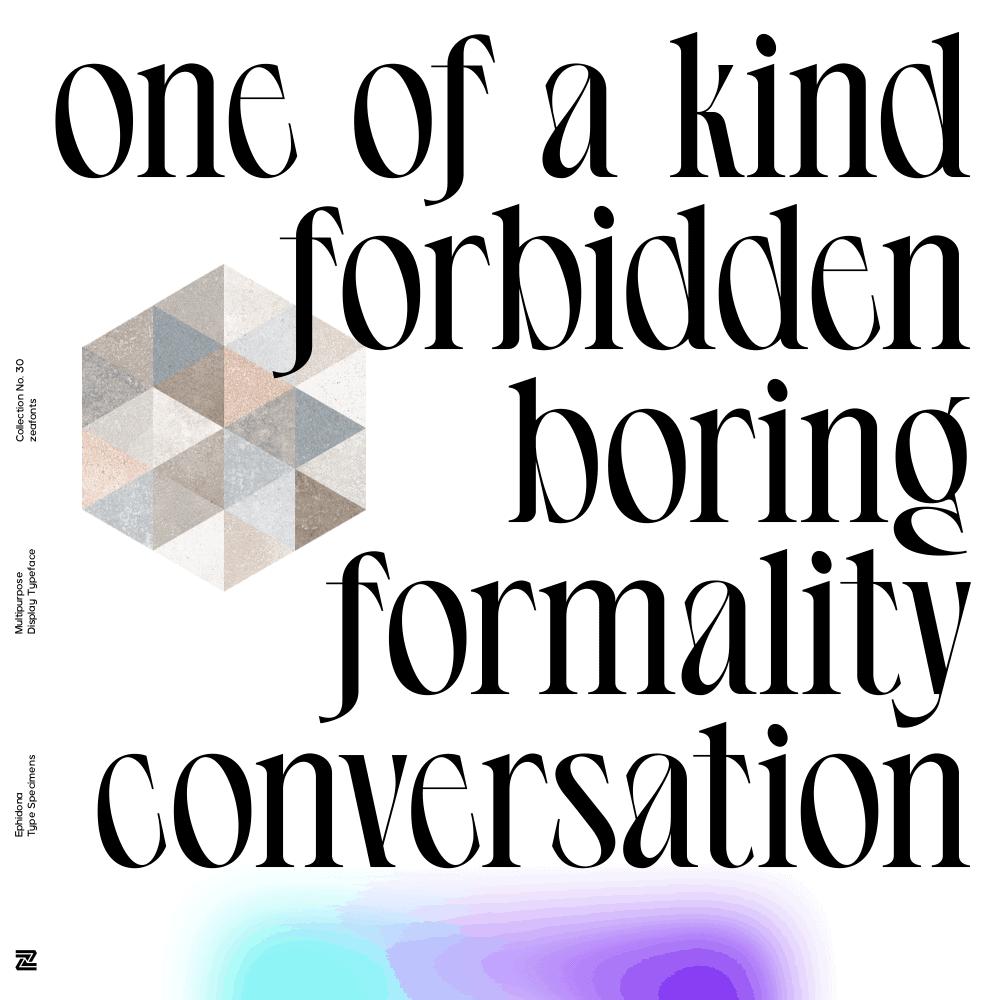 EPHIDONA Font