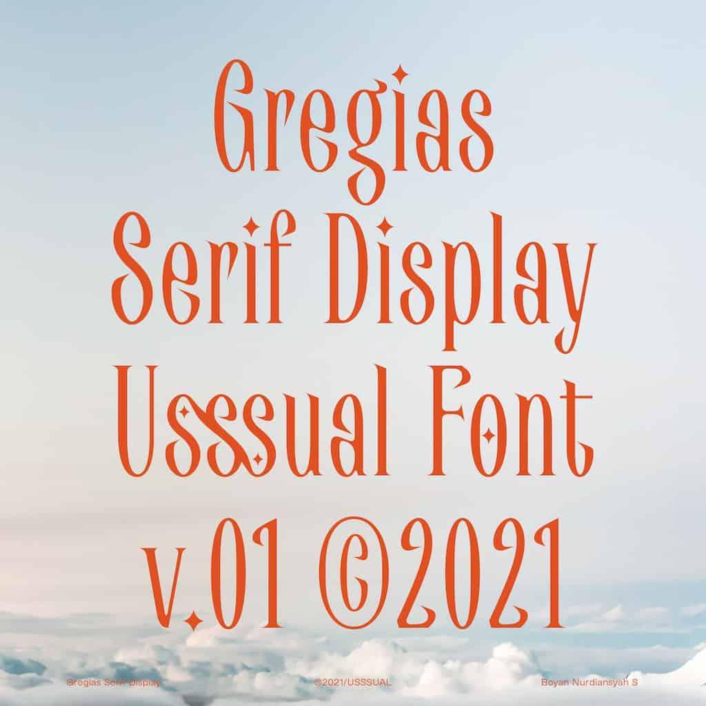 Gregias Font